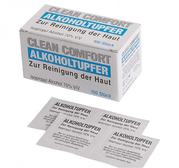 100 Alkohol-Tupfer 30 x 65 mm