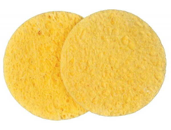 2 x Zelluloseschwämmchen in Gelb-Rund 7,5cm
